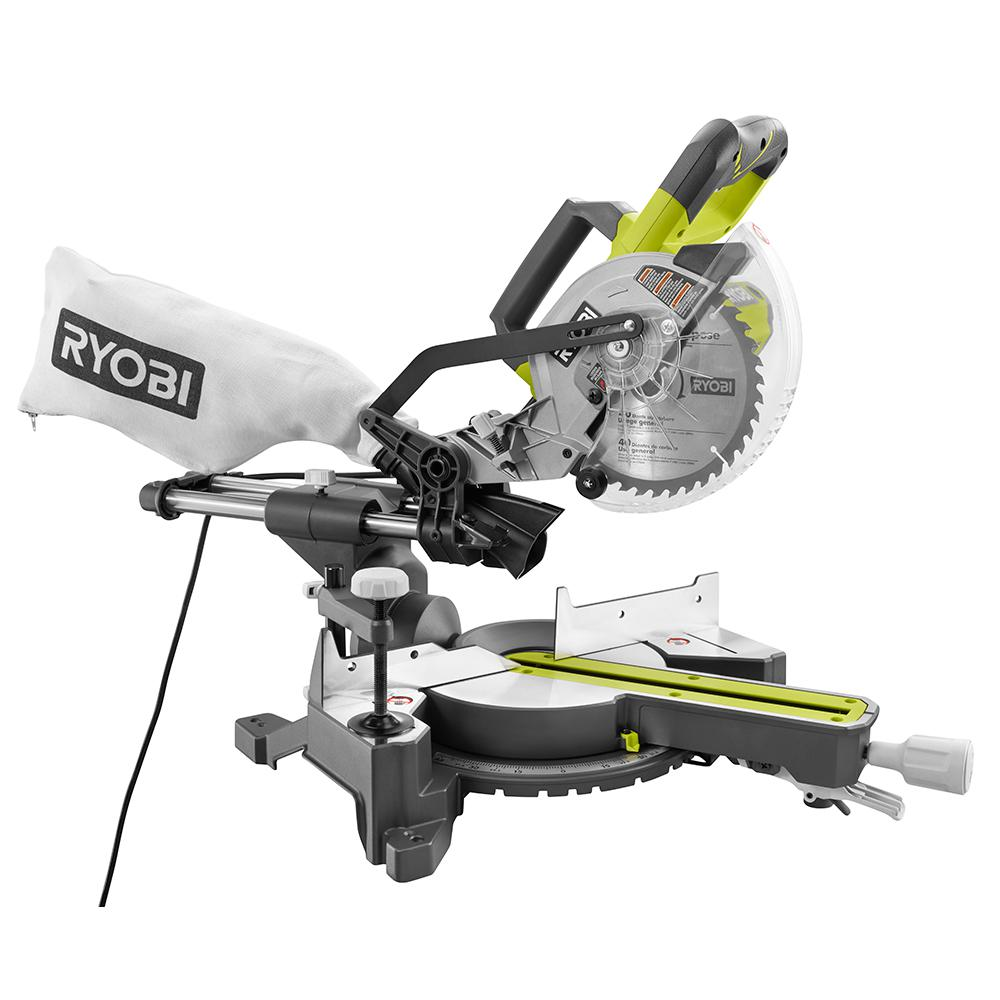 ryobi 10 amp 7 1 4 in sliding miter saw tss701 the home depot