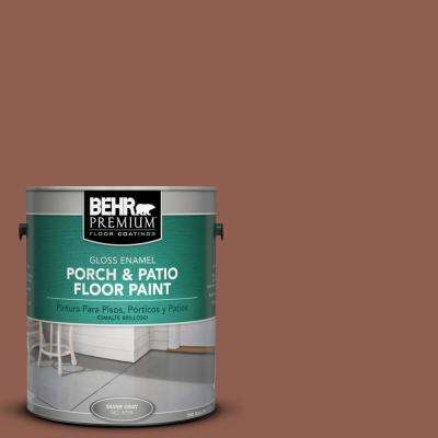 1 gal. #210F-7 Brown Thrush Gloss Porch and Patio Floor Paint