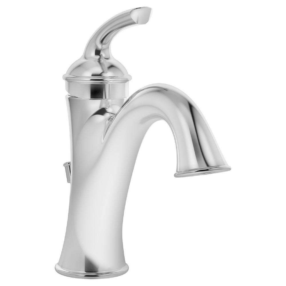 Elm Single Hole Single-Handle Lavatory Faucet with Drain Assembly in Chrome