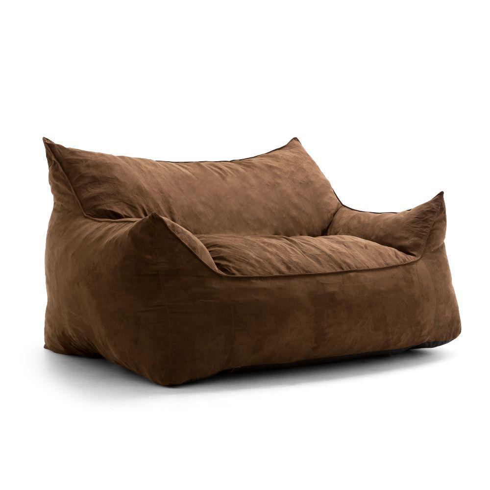 Imperial Fufton Shredded Ahhsome Foam Chocolate Comfort Suede Plus Bean Bag
