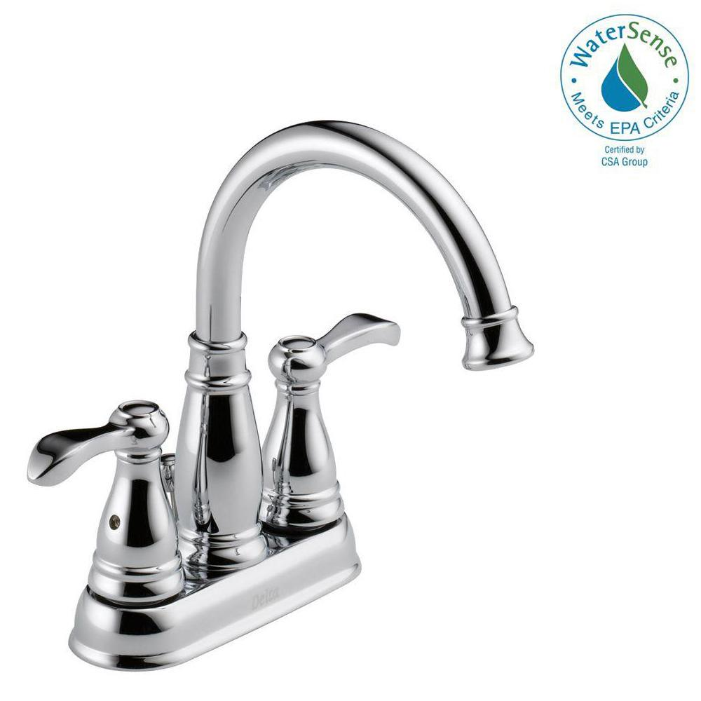 Delta Porter 4 in. Centerset 2-Handle Bathroom Faucet in Chrome ...