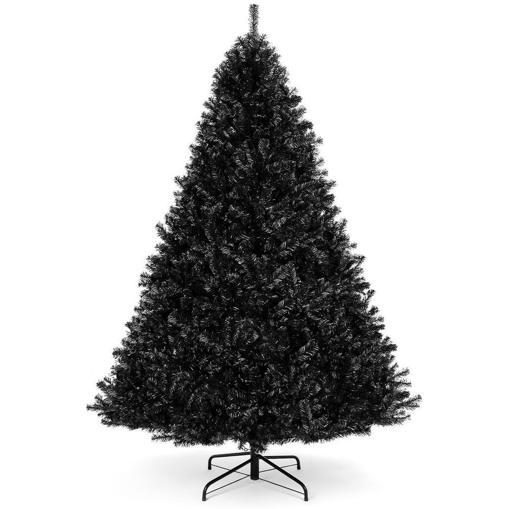 6 ft. Black Unlit Full Artificial Christmas Tree