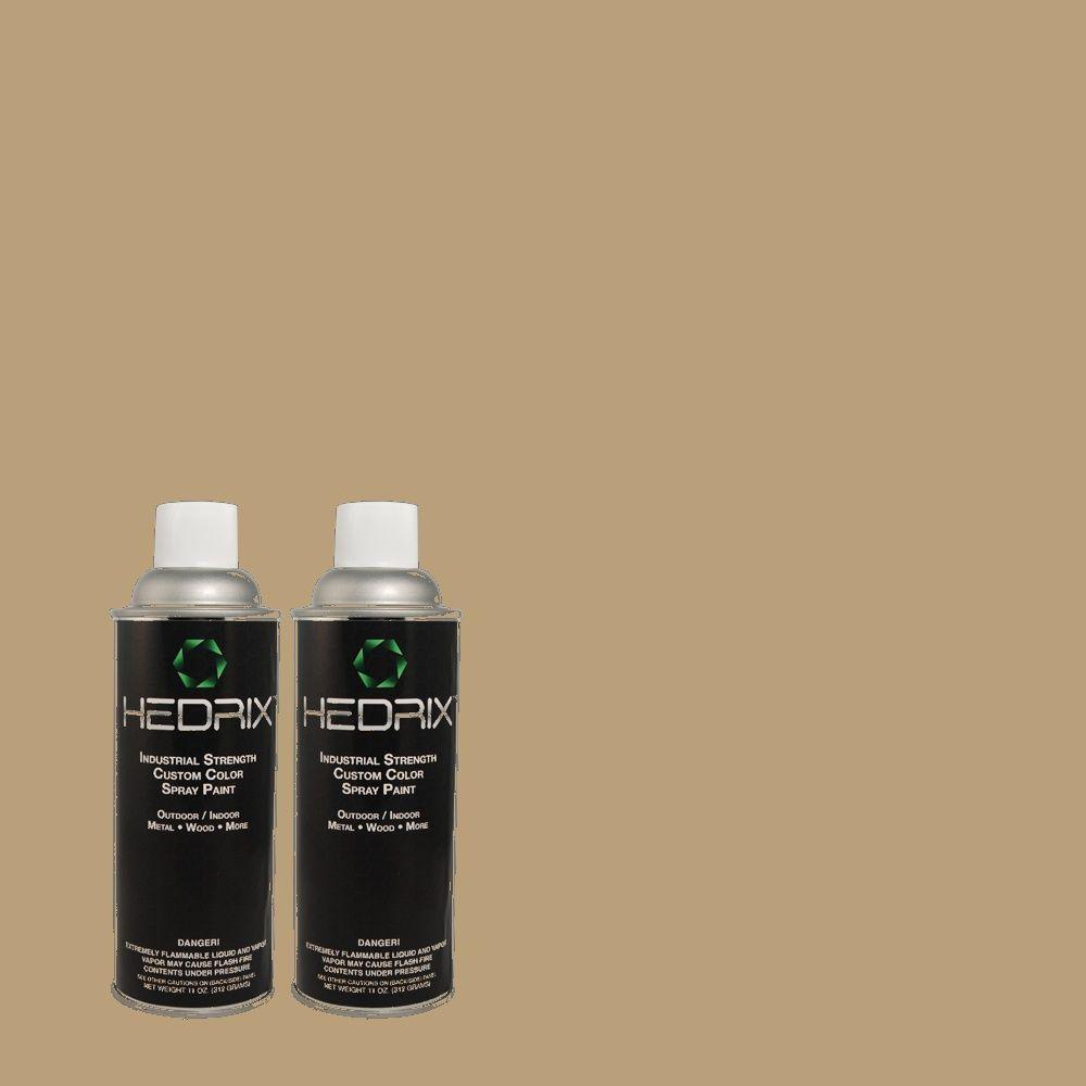 Hedrix 11 oz. Match of MQ2-24 Golden Olive Gloss Custom Spray Paint (2-Pack)