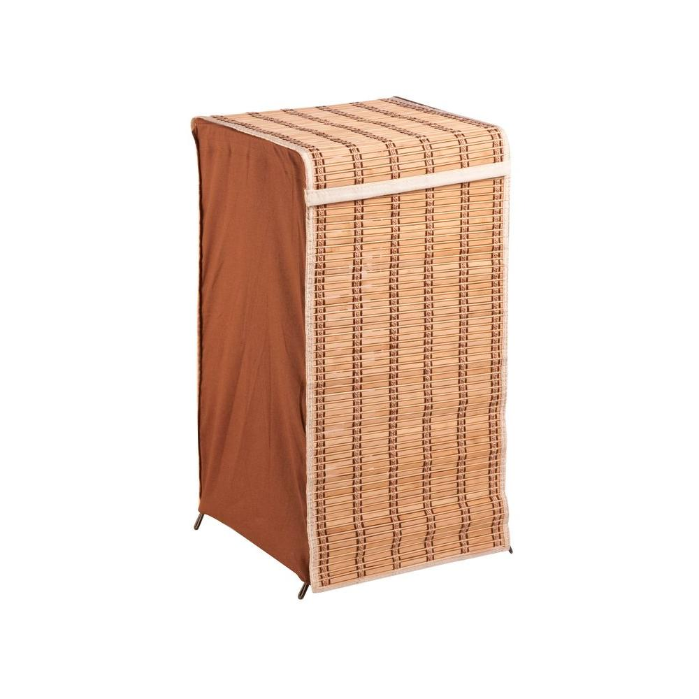 Tall Bamboo Wicker Weave Laundry Hamper