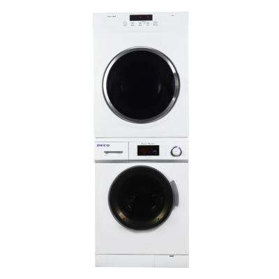 White Laundry Center with 1.6 cu. ft. Washer and 3.5 cu. ft. Electric Standard Dryer Including Dryer Stack Rack