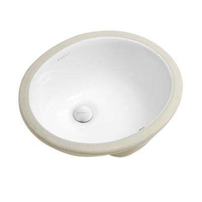 Plaisir 16.5 in. Oval Under-Mount Bathroom Sink in White