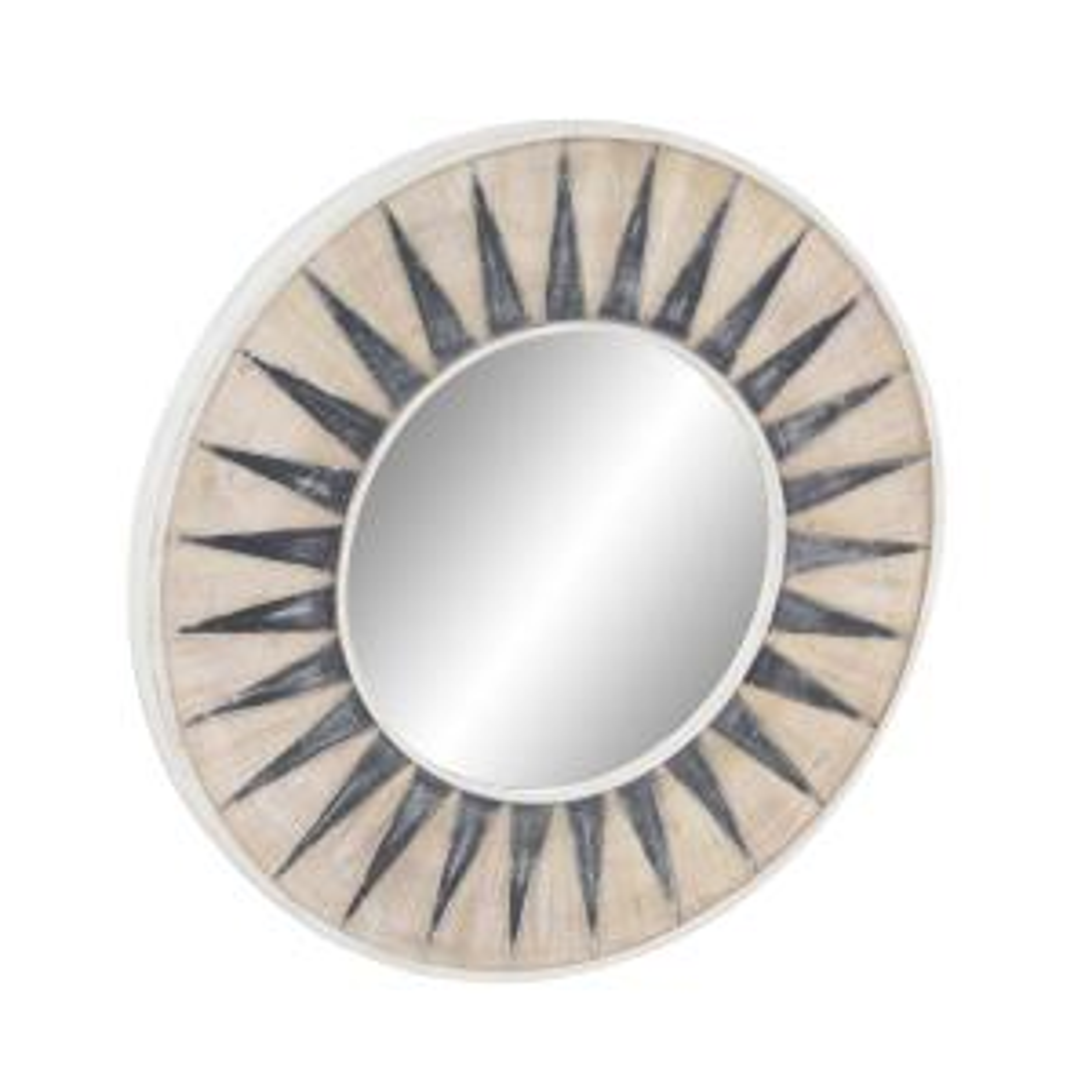 Litton Lane Sun Inspired Round White Accent Decorative