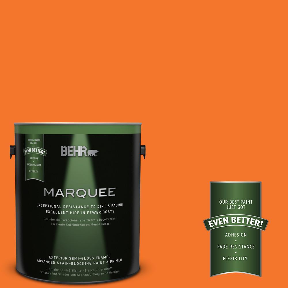 BEHR MARQUEE 1-gal. #230B-7 Kumquat Semi-Gloss Enamel Exterior Paint