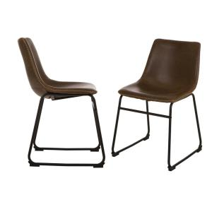 Miraculous Glitzhome S 2 Mid Century Modern Vintage Brown Leatherette Cjindustries Chair Design For Home Cjindustriesco