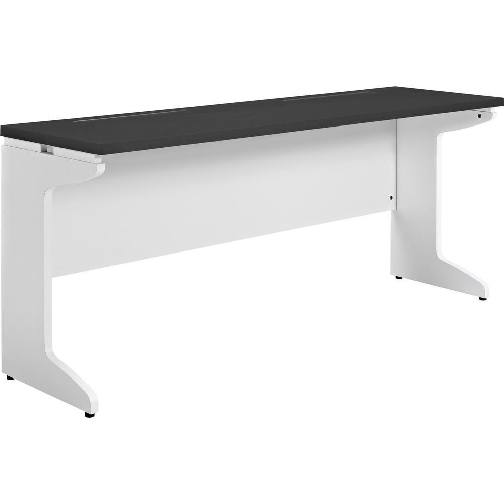 Mansfield Gray and White Credenza Desk