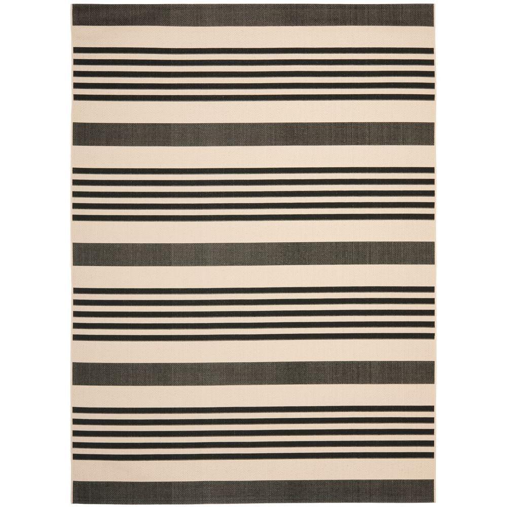 Safavieh Courtyard Black/Bone (Black/Ivory) 8 ft. x 11 ft...