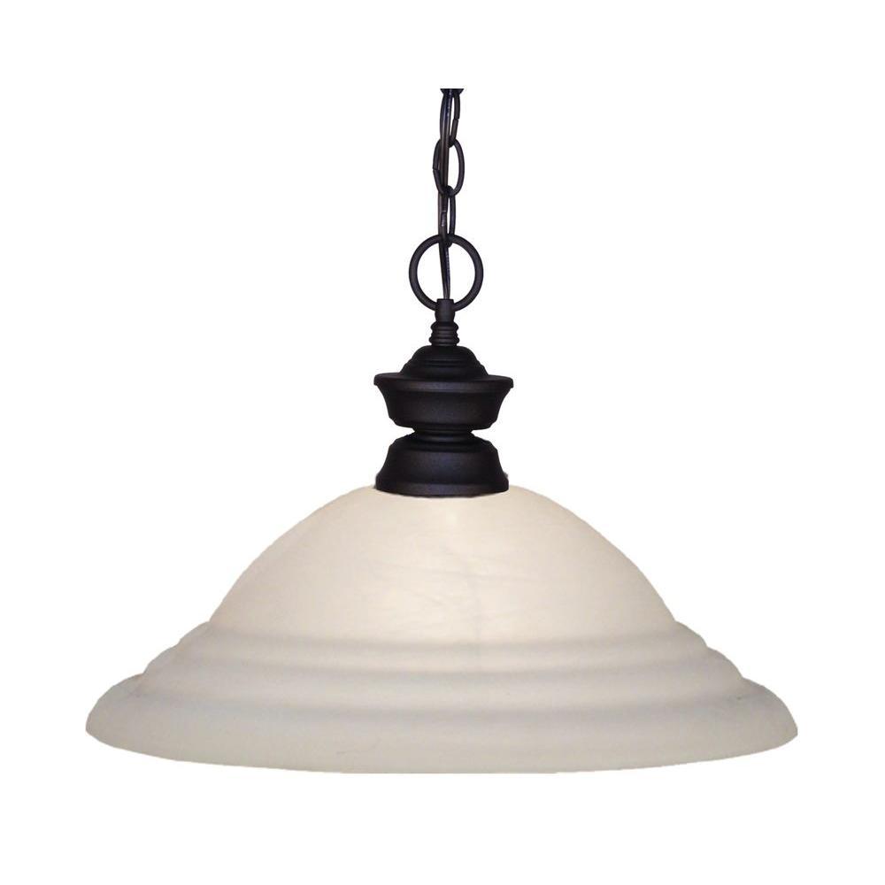 Lawrence 1-Light Matte Black Incandescent Ceiling Pendant