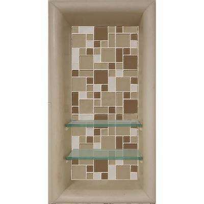 Tuscany 12 in. x 4 in. x 24 in. Shower Niche in Brown Sugar