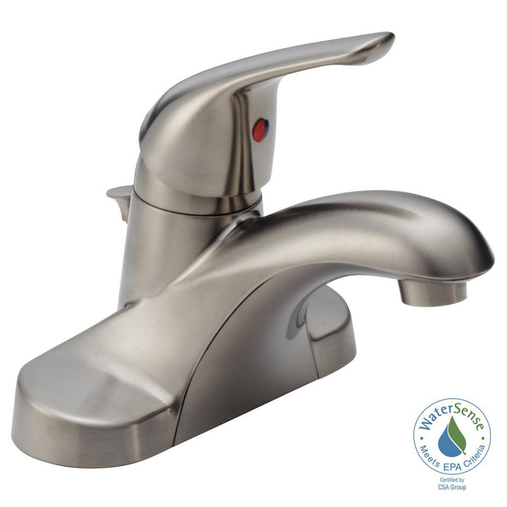 Delta Foundations 4 in. Centerset Single-Handle Bathroom Faucet in ...