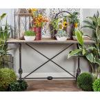 Zuo Kure Distressed Black Console Table 100752 The Home