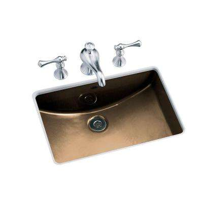 Ladena Undercounter Vitreous China Sink Basin in Mexican Sand with Overflow Drain