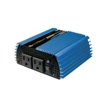 12-Volt DC to AC 200-Watt Power Inverter