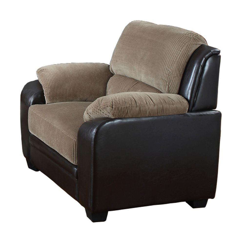 Barton Saddle Brown Corduroy Arm Chair
