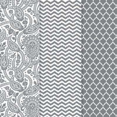 12 in. x 16 in. Decou-Page Paper Silver Trends (3-Pack)