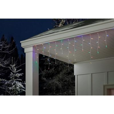 18.33 ft. 200-Light LED Multi-Color Dome Icicle Twinkle Light String