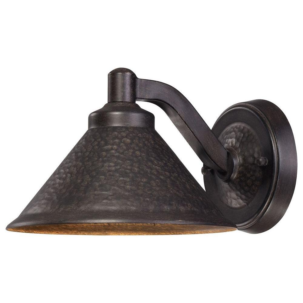 Kirkham 1-Light Aspen Bronze Outdoor Integrated Wall Lantern Sconce