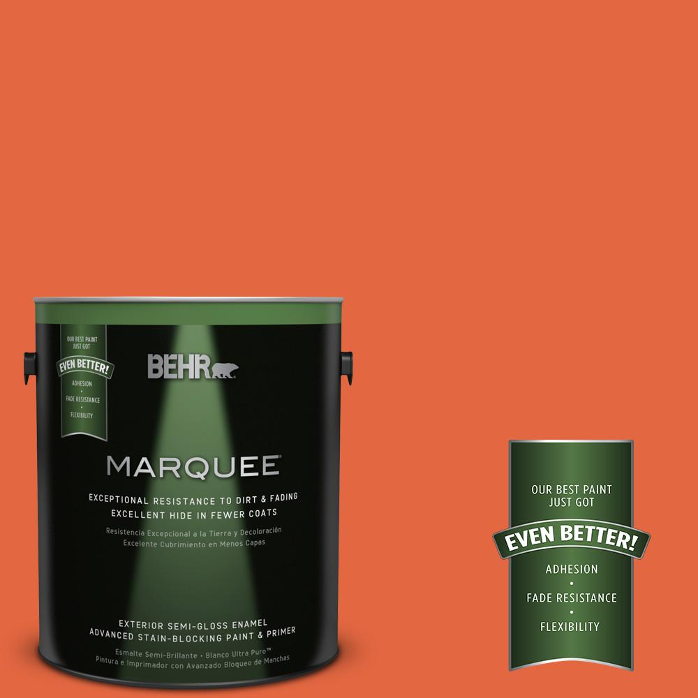 BEHR MARQUEE 1-gal. #P190-6 Emergency Zone Semi-Gloss Enamel Exterior Paint