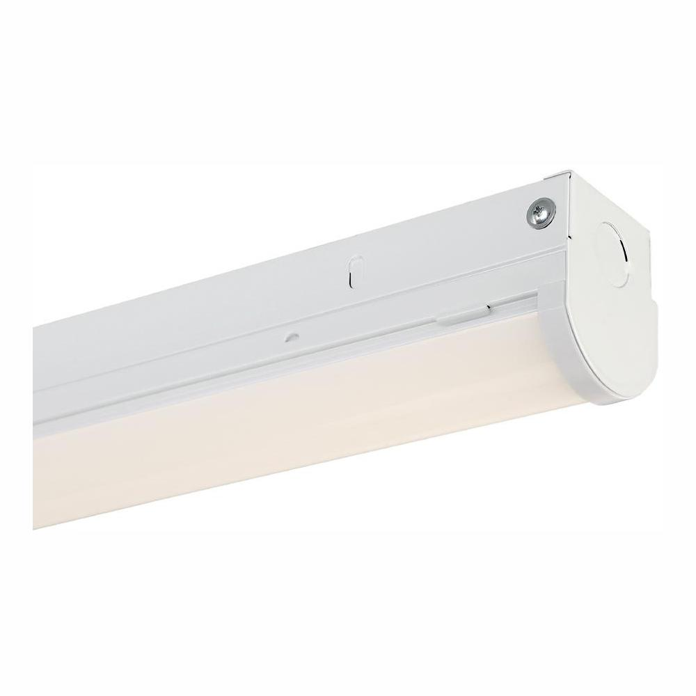 Envirolite 8 Ft 600 Watt Equivalent White Integrated Led Mv 000 Lumen Linear Strip Light