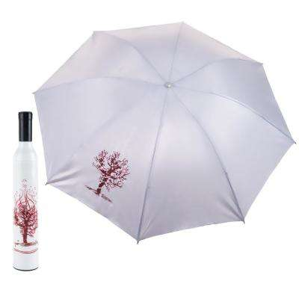 White and Pink Wine Bottle Umbrella