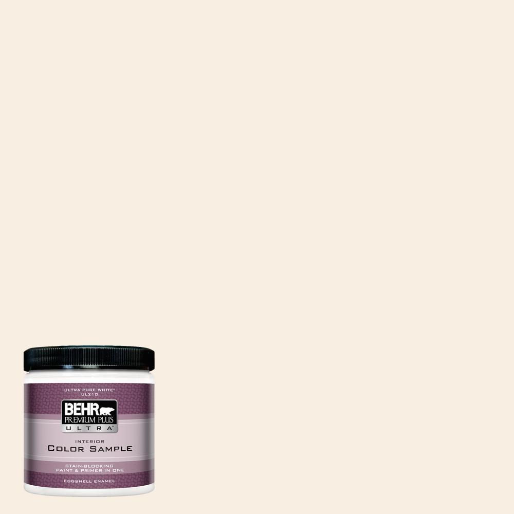 BEHR Premium Plus Ultra 8 oz  #M220-1 Marshmallow Whip Eggshell Enamel  Interior Paint and Primer in One Sample