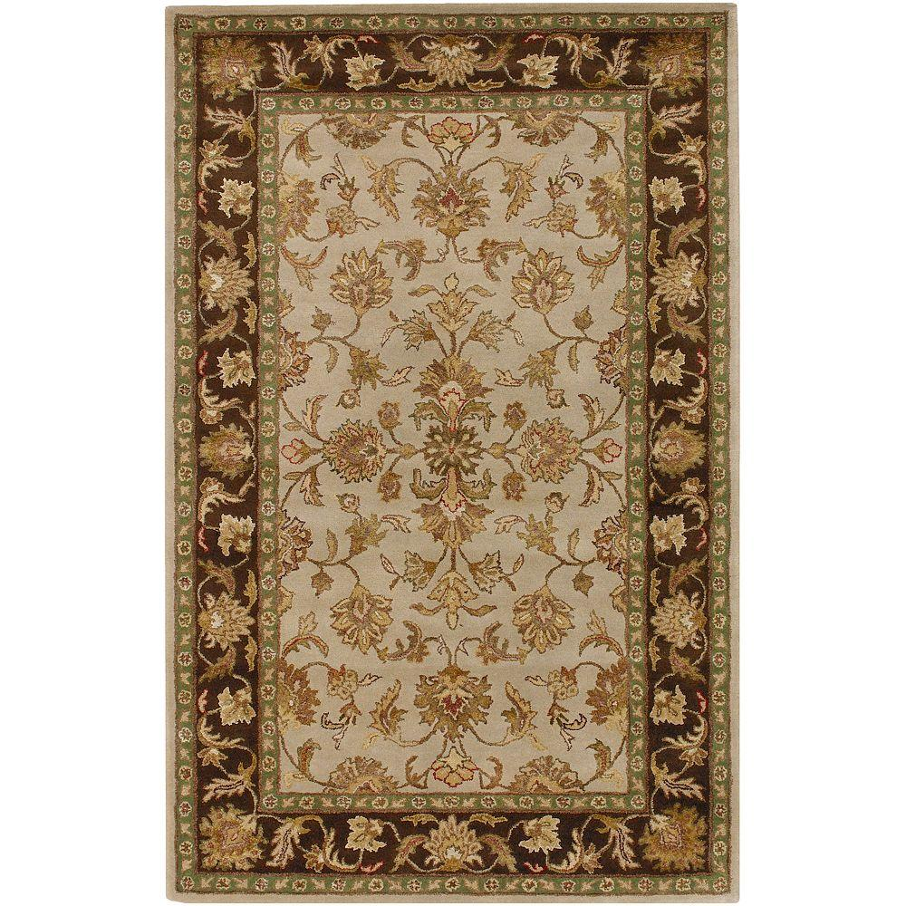 Artistic Weavers Kamal Taupe New Zealand Wool 8 ft. x 11 ft. Area Rug-DISCONTINUED