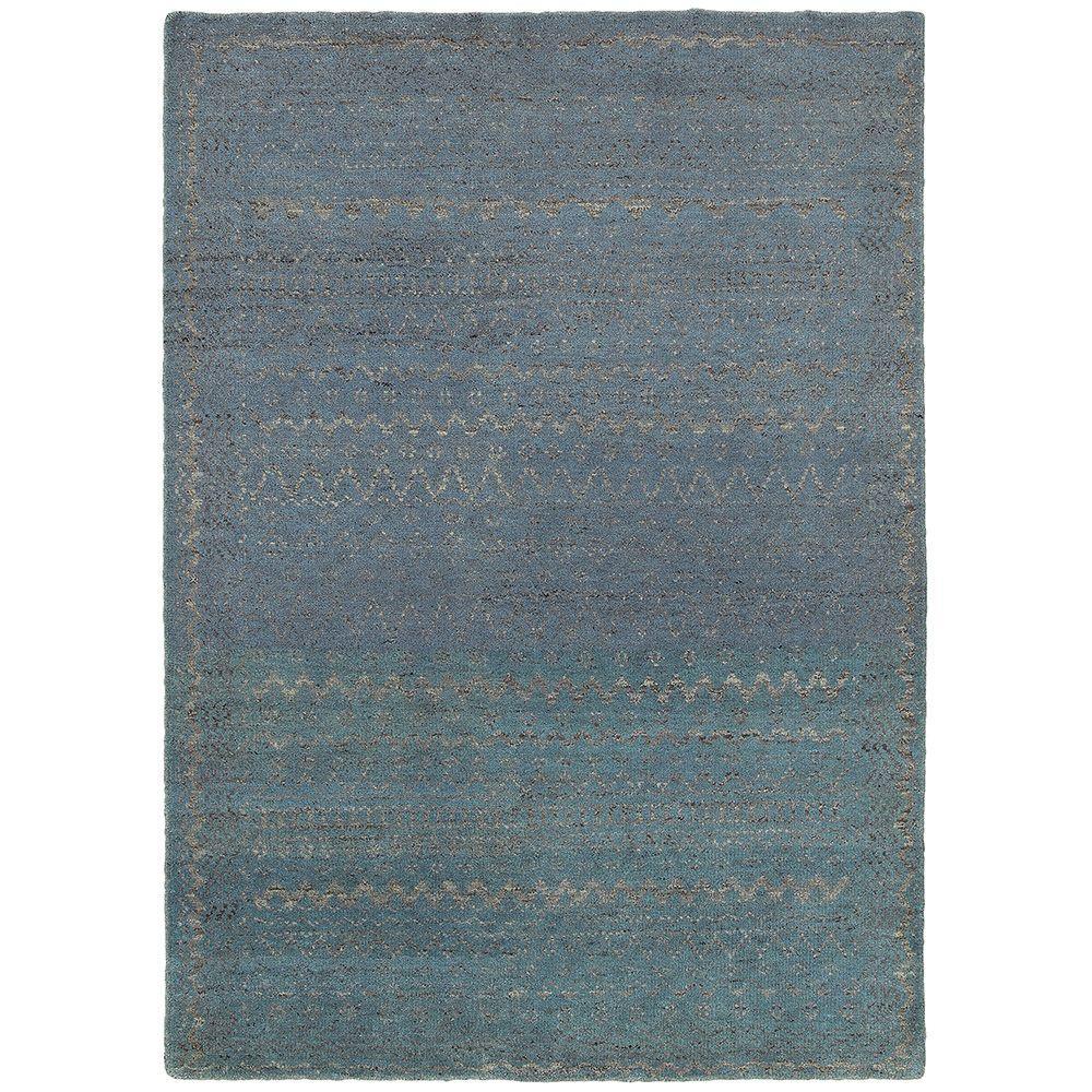 Oushak Blue 8 ft. x 10 ft. Indoor Area Rug