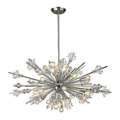 Tracera Collection 24-Light Polished Chrome Chandelier