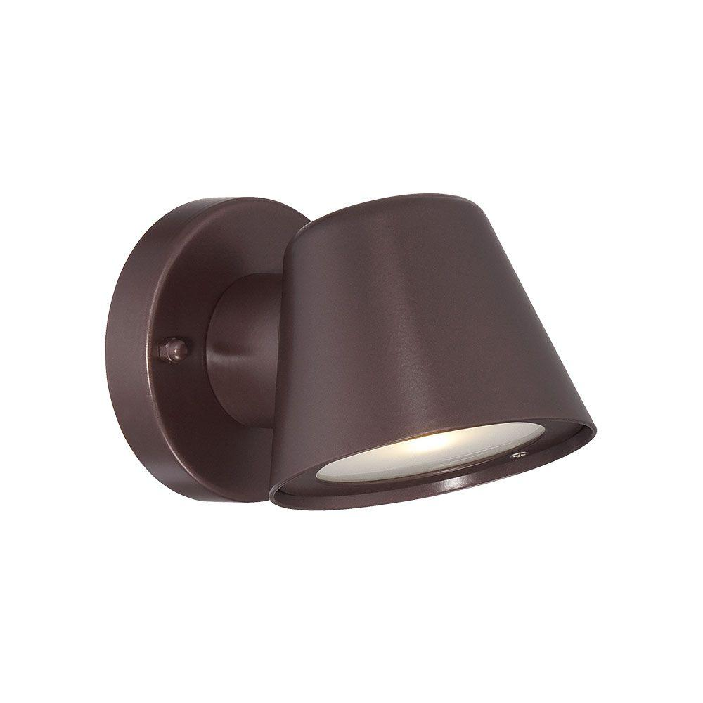 Acclaim Lighting 1-Light Architectural Bronze Integrated LED Wall Lantern Sconce