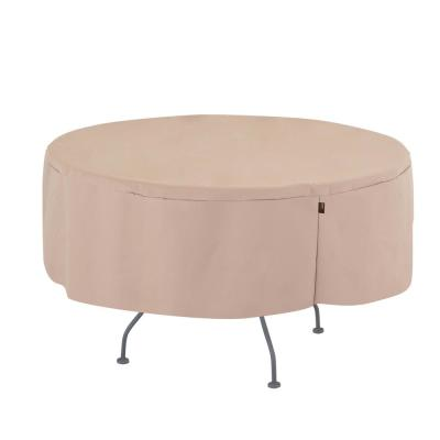 Chalet Water Resistant Round Outdoor Patio Table Cover, 50 in. DIA x 25 in. H, Beige