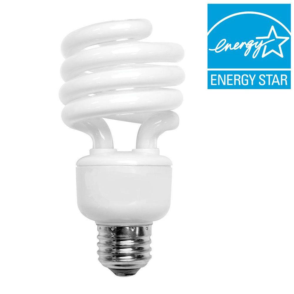 100W Equivalent Bright White (3500K) Spiral CFL Light Bulb