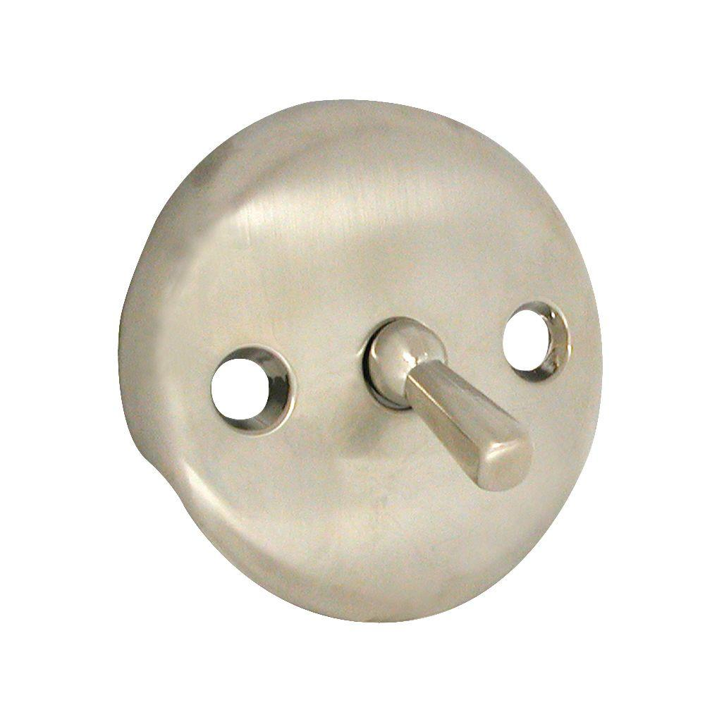 Trip Lever Overflow Plate in PVD Brushed Nickel