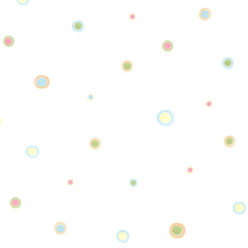 Devin Aqua Bubble Dots Wallpaper