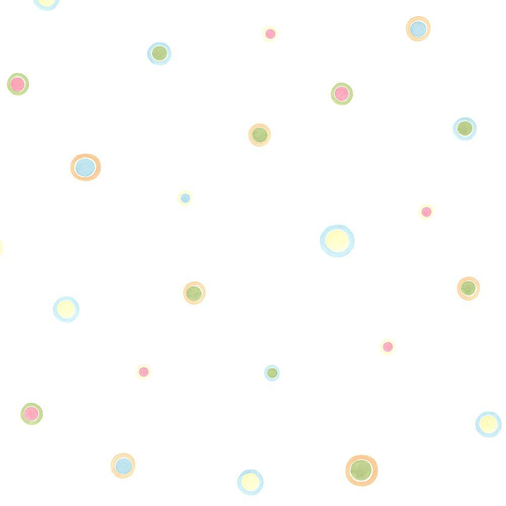 Devin Aqua Bubble Dots Wallpaper Sample