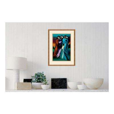 18.00 in. W x 24.00 in. H Three Sisters by Betty Albert Printed Framed Wall Art