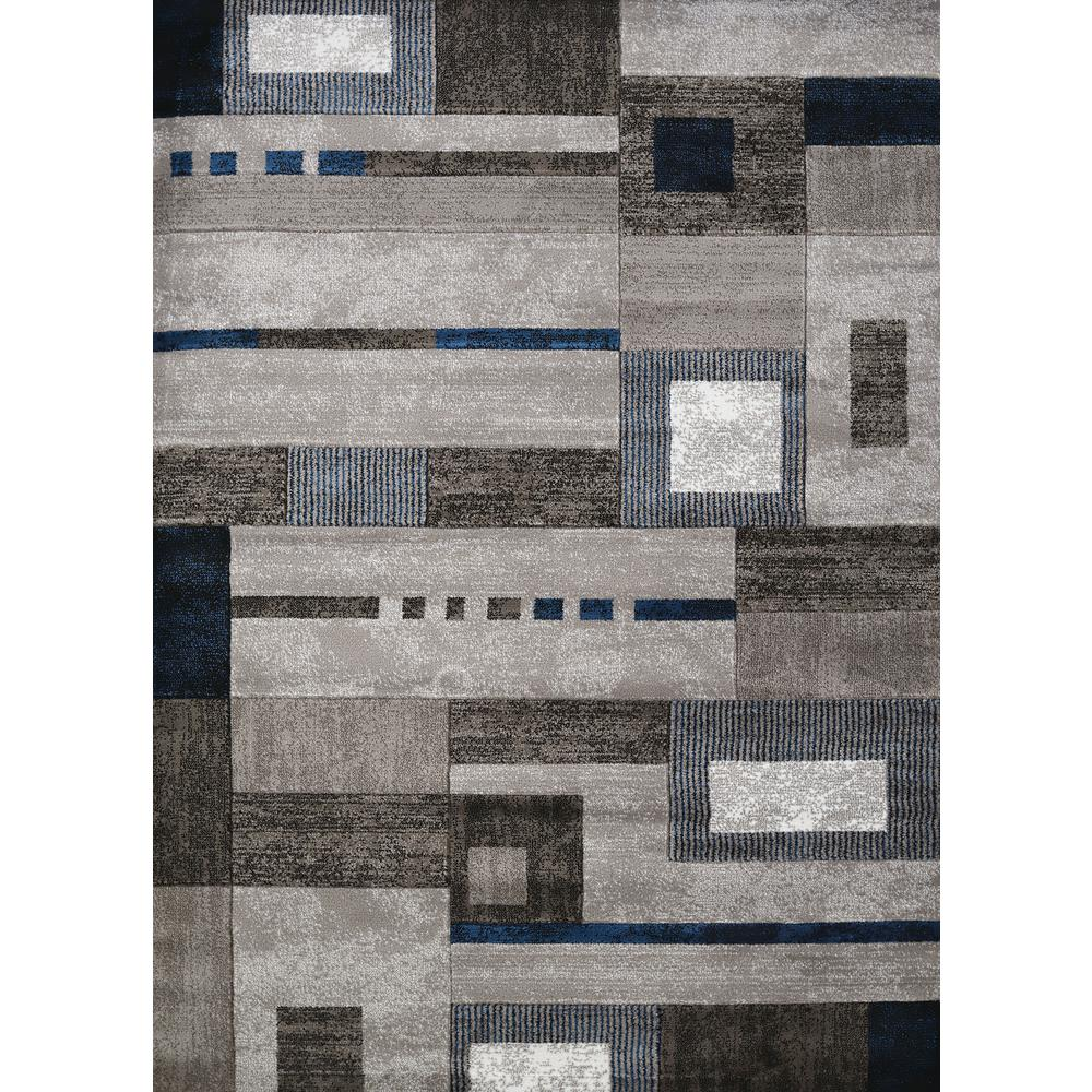 Studio Percussion Denim Blue 5 Ft X 7 Indoor Area Rug