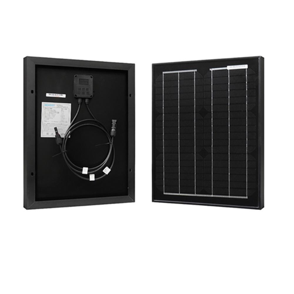 20-Watt 12-Volt Monocrystalline PV Solar Panel