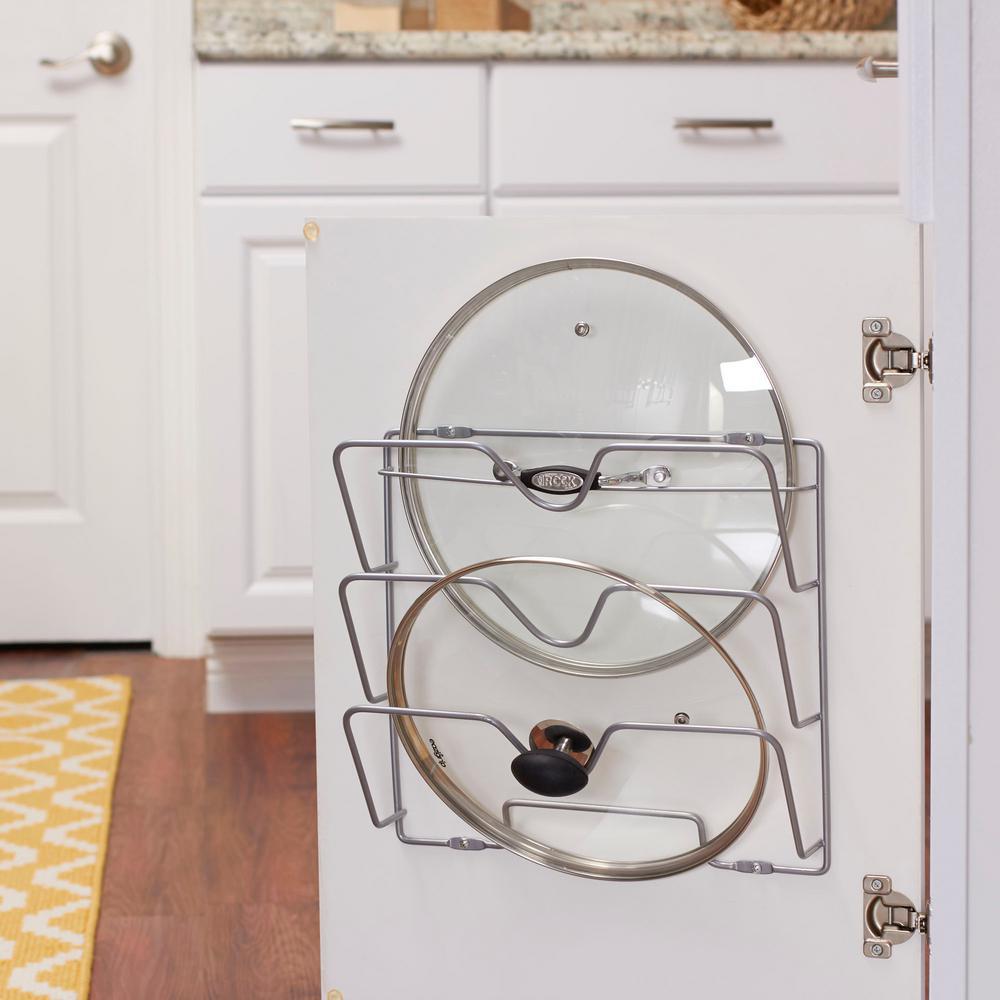 Design Trend Oversize Lid Holder with Nickel Door Mount