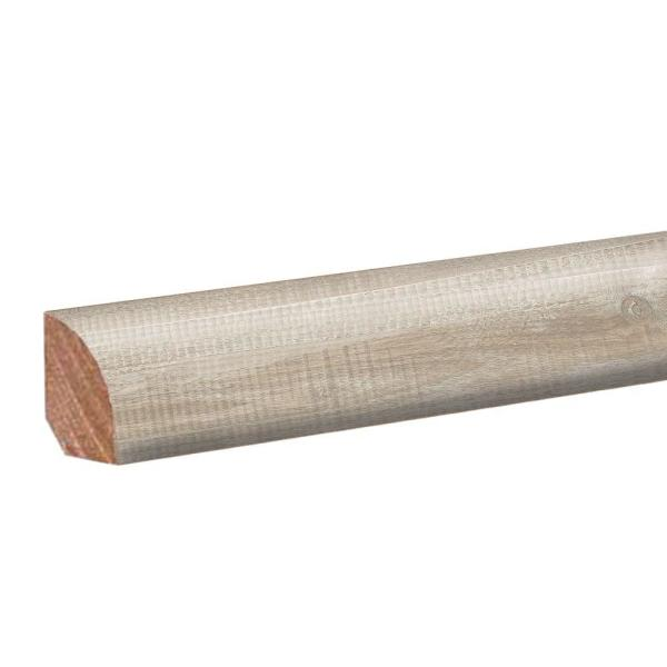 Whitewashed Walnut 0.62 in. Thick x 0.75 in. Wide x 94.5 in. Length Laminate Quarter Round Molding