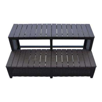 Wicker Spa Step for 79 in. Spas