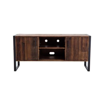 Brixton 60 in. Distressed Natural Wood TV Stand Fits TVs Up to 70 in. with Storage Doors
