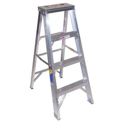 4 ft. Aluminum Step Ladder with 375 lb. Load Capacity Type IAA Duty Rating