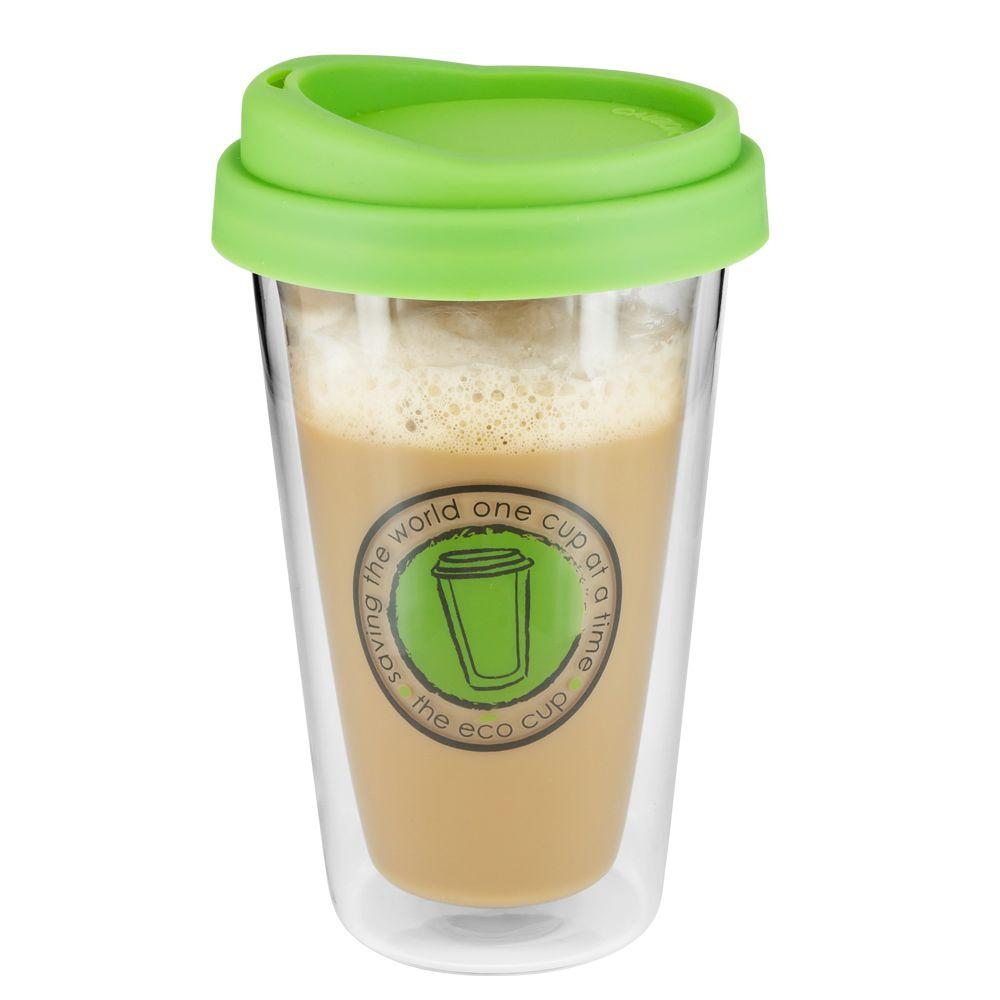 SmartPlanet ECO 12 oz. Glass Coffee Cup Pistachio-DISCONTINUED