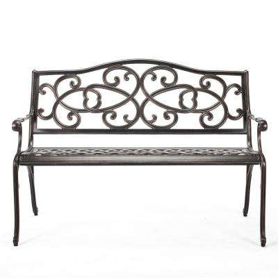 47.5 in. Copper Metal Outdoor Bench