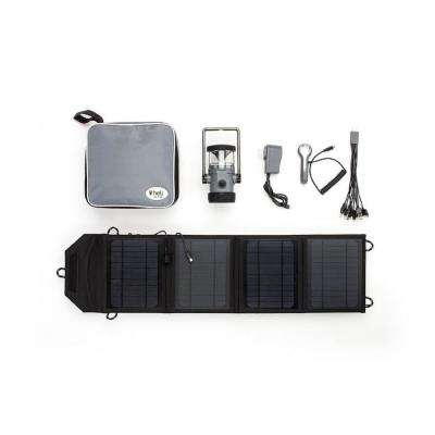 Heli 4400 Kit AC Wall Adapter/10-in-1/DC Car Charger/Carrying Case/14-Watt Solar Panel with USB Connection Grey