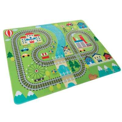 Train Scene Multi 4 ft. x 5 ft. Area Rug